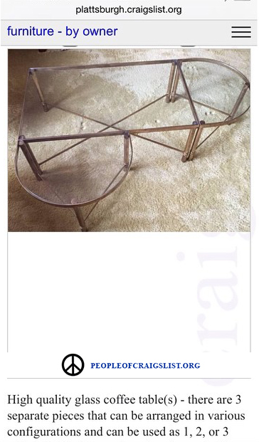 Craigslist coffee table
