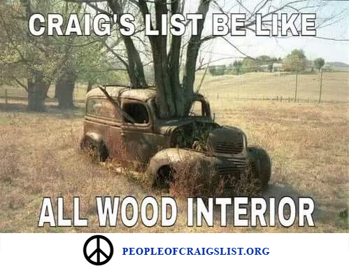 Craigslist all wood interior