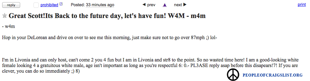 Back to the future on craigslist - People of Craigslist