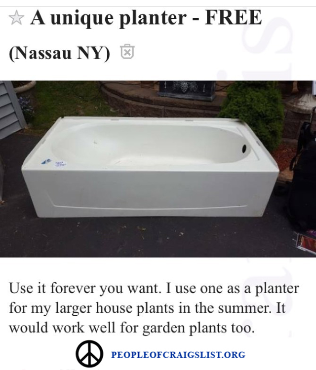 A unique planter on craigslist
