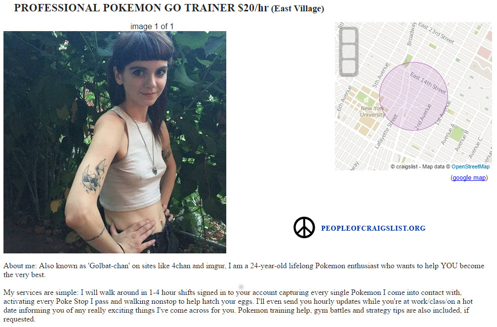 Pokemon Go professional trainer copy