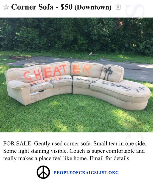 Craigslist Gently used corner sofa