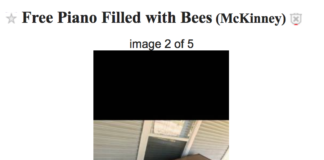 Free Piano filled with bees