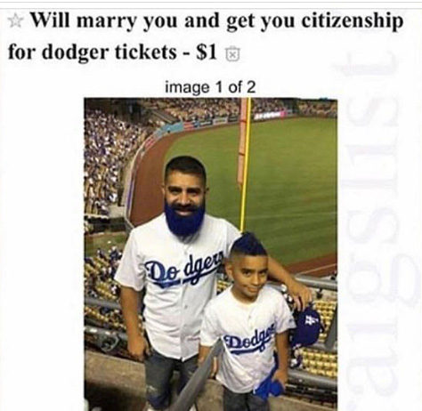 will marry you for dodgers tickets