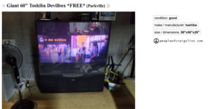 craigslist tv for the football fan