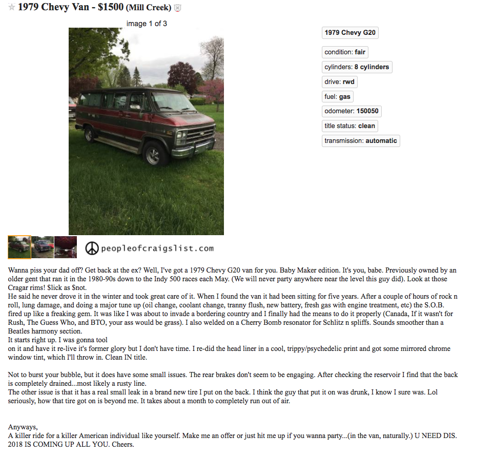 You Need This Van - People of Craigslist