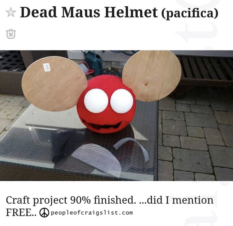 free dead maus helmet craigslist - People of Craigslist