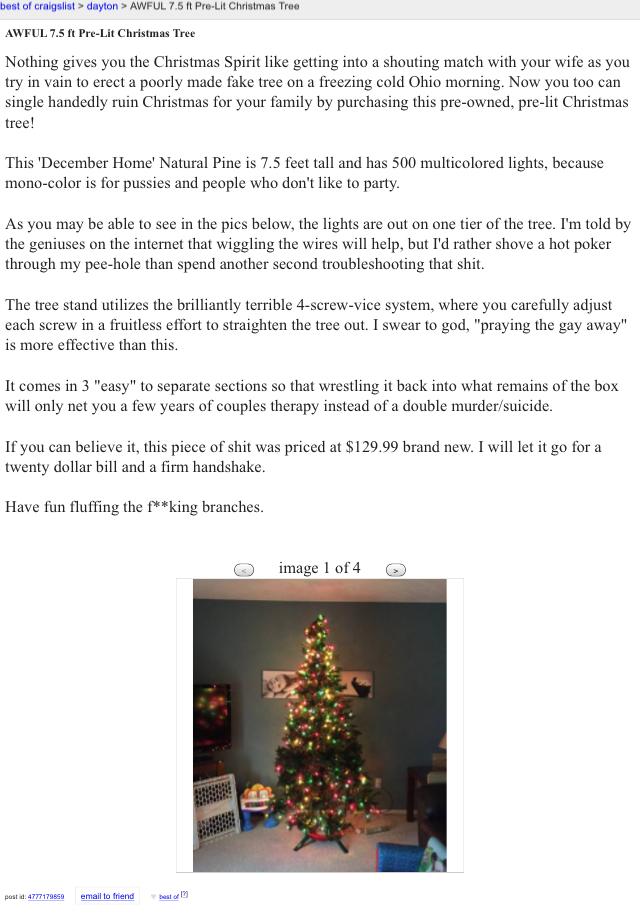 Funny Craigslist Christmas