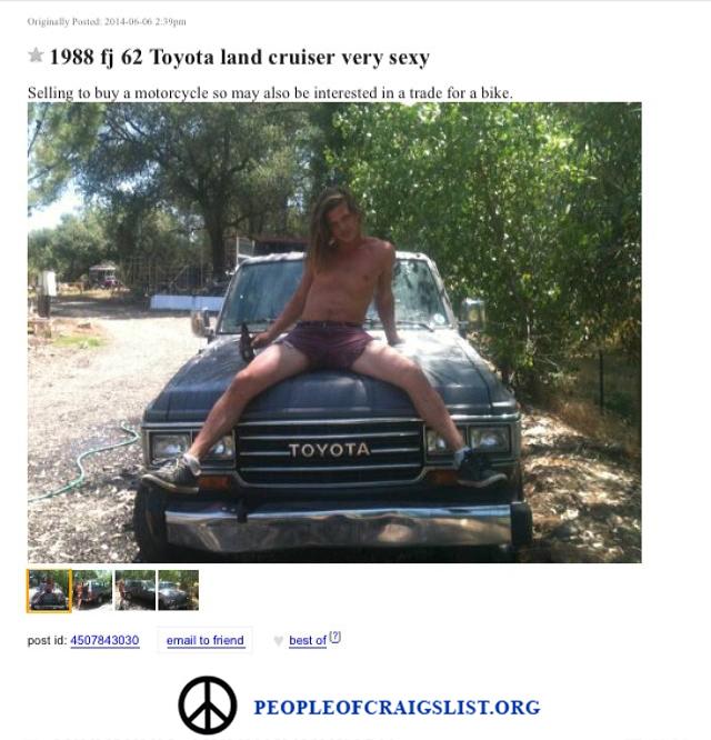 toyota land cruiser funny craigslist