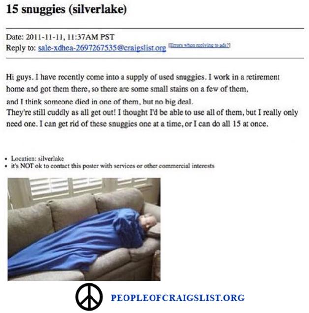Craigslist Snuggie